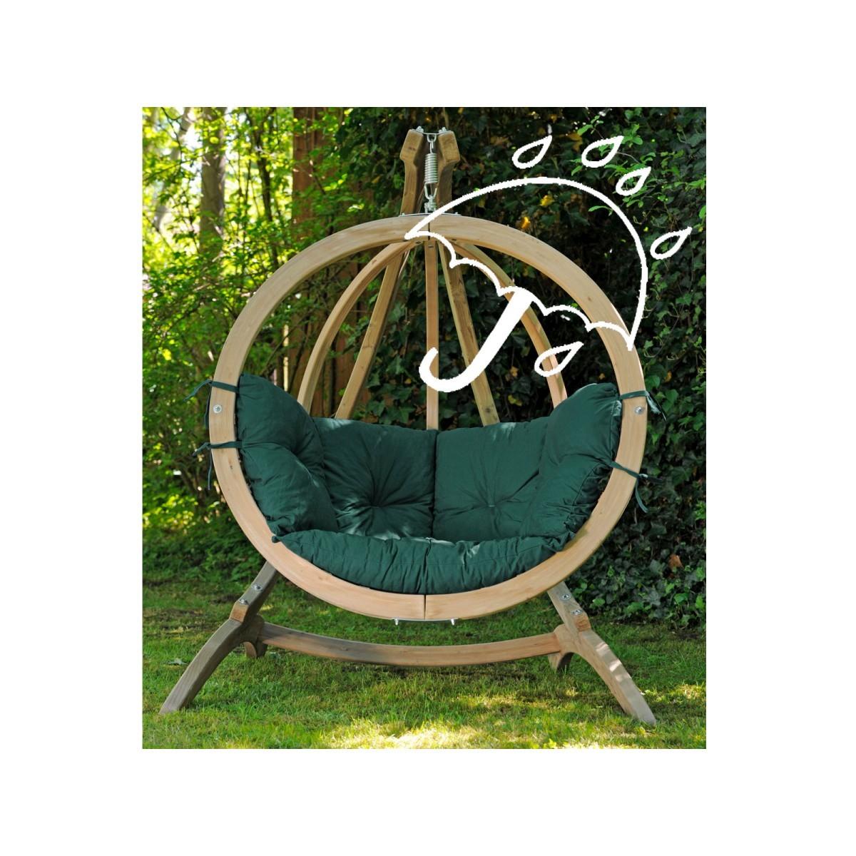 Amazonas fauteuil suspendu globo chair green weatherproof avec support - Fauteuil suspendu avec support ...