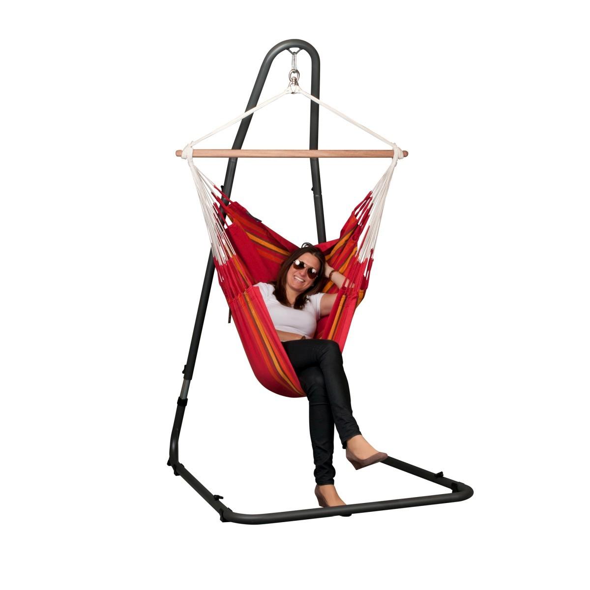la siesta chaise hamac basic currambera cherry support pour. Black Bedroom Furniture Sets. Home Design Ideas