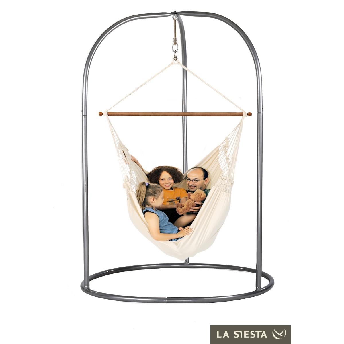 la siesta chaise hamac kingsize cari o cru support romano. Black Bedroom Furniture Sets. Home Design Ideas