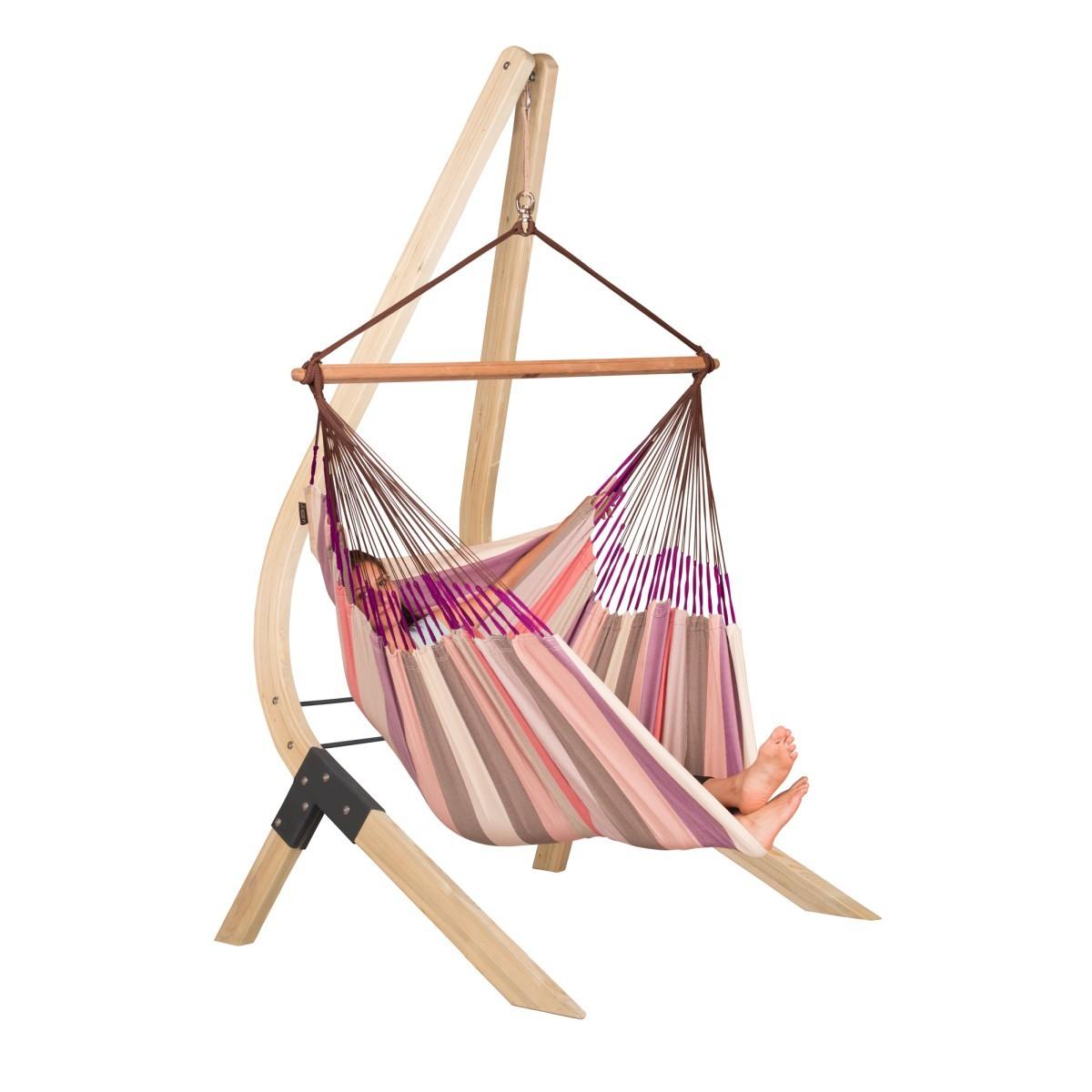 La siesta chaise hamac lounger domingo plum support en bois vela - Support hamac bois ...