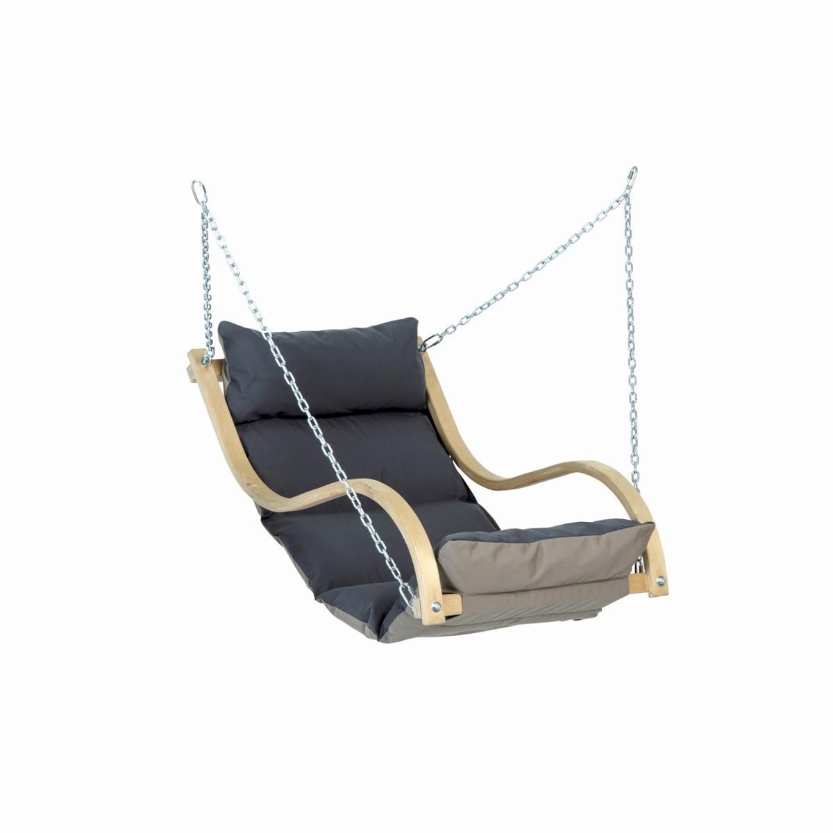 Fauteuil Suspendu D Exterieur amazonas- fauteuil suspendu rembourré fat chair anthracite